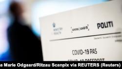 Dokument danske vlade koji služi kao potvrda za vakcinisane