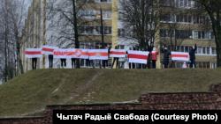 Фотографија од еден од вчерашните протести во Минск, Белорусија