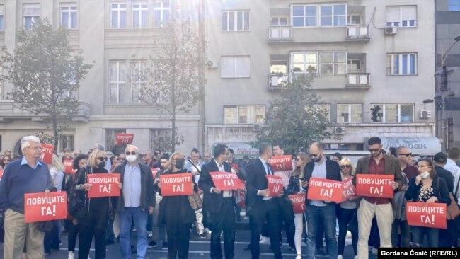 Advokati na protestu sa zahtevom da VKS povuče novo pravno mišljenje o naplati obrade kredita