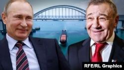 Владимир Путин и Аркадий Ротенберг (фотоколлаж)