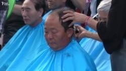 Побрили головы в знак протеста против ПРО США