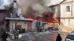 В Ташкенте сгорел ресторан «Манас»