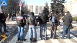 Невідомі заблокували дорогу учасникам донецького Автомайдану
