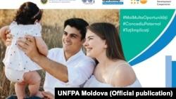 Jurnalistul Europei Libere Nicolae Gușan promovând concediul paternal