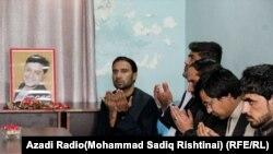 مراسم اتحاف دعا به روح الیاس داعی خبرنگار رادیو آزادی در ولایت هلمند که در یک حمله هدفمند جان باخت.