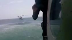 «Sea Breeze» морські прикордонники відпрацьовують безпарашутне десантування з гелікоптеру у відкрите море