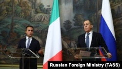 تصویری آرشیوی از دیدار وزیران خارجه ایتالیا و روسیه در مسکو