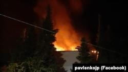 Пожар в доме по улице Кривошты, 10 в Ялте