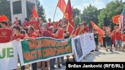 Црногорските патриотски организации протестираат против устоличувањето на митрополитот на Српската православна црква во Цетиње. 22.08.2021.
