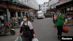 Piață de legume din Beijing, China.