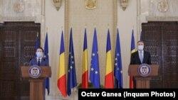 Premierul Florin Cîțu și președintele Klaus Iohannis
