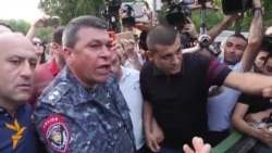Yerevan Police Chief Gets Aggressive With Protesters