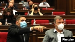 Armenia -- Deputies from the opposition Prosperous Armenia Party attend a parliament session, Yerevan, September 4, 2020.