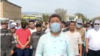 В Жанаозене бастующие работники «KMG-Security» ночевали на улице
