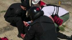 Через сутички під час «Маршу рівності» у Києві міліціонера було поранено в шию
