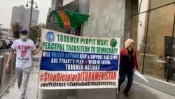 Aktiwistler Türkmenistanyň syýasatyna garşy protest aksiýalaryna başladylar