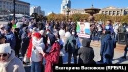 Пратэсты ў Хабараўску 18 кастрычніка