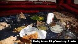 دسترخوانی که برای افطار در یکی از خانه های لوگر اماده شده بود، انفجار مهیب موتربمب همه چیز را برهم زد.