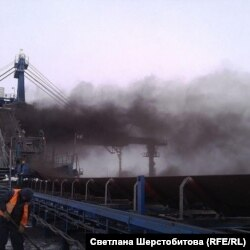 Перевалка угля. Порт Ванино. Хабаровский край