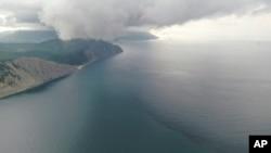 Вид с воздуха на побережье Черного моря недалеко от Новороссийска