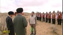 Turkmen President Campaigns In Akhal Province