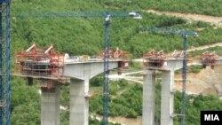 Изградба на мост на автопатот Кичево - Охрид