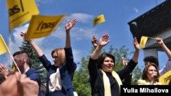 PAS și-a lansat campania electorală pentru anticipatele din 11 iulie, Chișinău, 5 iunie 2021.
