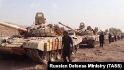 Ооган-тажик чек арасына бараткан орусиялык танктар. 20-июль, 2021-жыл.