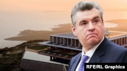 Leonid Slutsky's lifestyle appears out of sync with his official income declaration. (photo illustration)