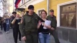 """Участницу акции """"Надоел"""" арестовали на 10 суток"""