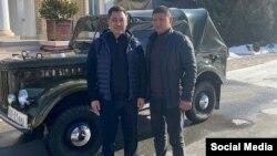 """Президент Садыр Жапаровго Усубалиевдики деп берилген автоунаа. Сүрөт Жапаровдун """"Инстаграмдагы"""" баракчасынан алынды."""