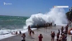 Штормова Ялта (відео)