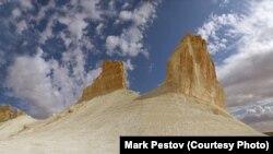 Pogled na predio Bozhira u regiji Mangistau, jedinstveni spomenik prirode.