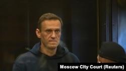 Алексей Навальный на слушании в суде. Москва, 2 февраля 2021 года.