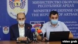 Омбудсмен Карабаха Артак Бегларян (слева)