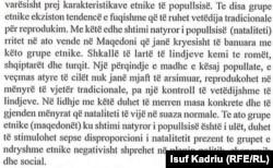 Pjesë nga libri i Sociologjisë me të cilën mësojnë nxënësit e vitit të dytë në shkollat e mesme në Maqedoninë e Veriut, ku flitet për shqiptarët.
