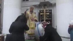 Владика Климент провів водосвяття в Сімферополі