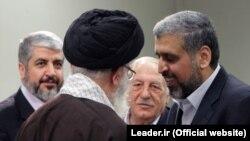 دیدار علی خامنهای با رهبران گروههای جهادی فلسطینی در اسفند ۸۸