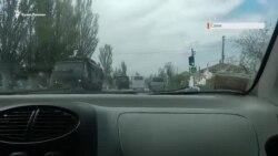 Російська військова техніка в Саках (відео)
