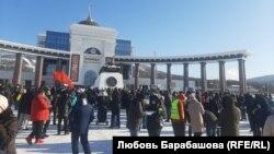 Митинг в Южно-Сахалинске