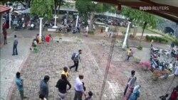 Місцеві ЗМІ Шрі-Ланки показали відео підозрюваного смертника, який заходив до церкви перед терактом – відео