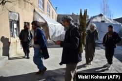 Militiamen loyal to Abdul Ghani Alipur, a local warlord, in the Behsud district of Maidan Wardak Province.