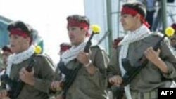 رژه نیروهای مسلح به مناسبت سالگرد آغاز جنگ ایران و عراق. (عکس: AFP)