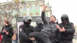 Задержания в Москве и Санкт-Петербурге 5 мая