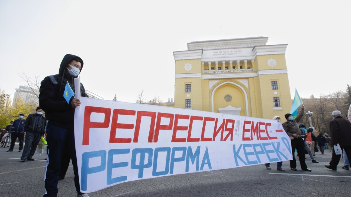 Hundreds Of Kazakh Activists Attend Rare Rally In Almaty
