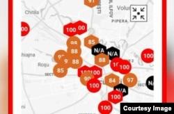 Datele platformei aerlive.ro din 25 octombrie