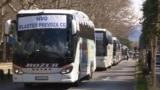 Bus Convoy Protest Demands State Support To Help Companies In Montenegro Survive Pandemic