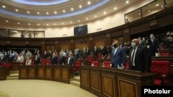 Armenia - Deputies start the autumn session of the Armenian parliament, Yerevan, September 14, 2020.