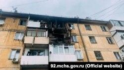 Пожар в многоквартирном доме в Нахимовском районе, Севастополь, 21 мая 2021 года