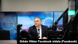 Viktor Orban, the Hungarian prime minister takes part in a radio interview on February 5th 2020.